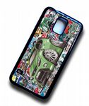 Koolart STICKERBOMB STYLE Design For Green Ford Focus RS Hard Case Cover Fits Samsung Galaxy S5